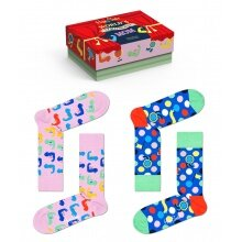 Happy Socks Tagessocke Crew Muttertag (Strongest Mom) rot Geschenkbox - 2 Paar