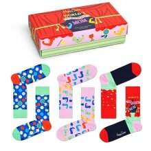 Happy Socks Tagessocke Crew Muttertag (Strongest Mom) rot Geschenkbox - 3 Paar