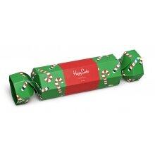 Happy Socks Tagessocke Crew Christmas Candy Cane Geschenkbonbon 2er