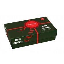 Happy Socks Tagessocke Crew Holiday (Geschenk) Geschenkbox 3er