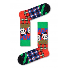 Happy Socks Tagessocke Crew Disney ETis the Season rot/grün 1er