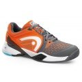 Head Revolt Pro grau/orange Tennisschuhe Herren