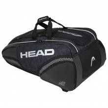 Head Racketbag Djokovic 12R Monstercombi 2020 schwarz