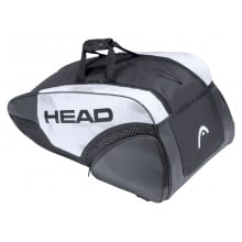 Head Racketbag (Tennistasche) Djokovic 9R Supercombibag 2021 weiss/schwarz