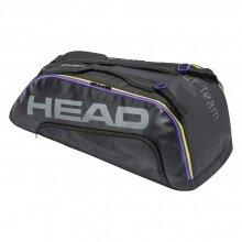 Head Racketbag (Schlägertasche) Tour Team 9R 2021 schwarz/lila - 2 Hauptfächer