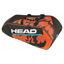 Head Racketbag Radical 9R Supercombi 2017 schwarz/orange