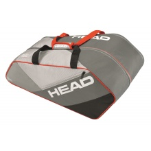 Head Racketbag Elite 9R Supercombi grau/rot
