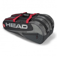 Head Racketbag Elite 9R Supercombi 2018 schwarz/rot