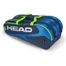 Head Racketbag Elite 9R Supercombi 2018 blau