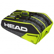 Head Racketbag Core 9R Supercombi 2020 schwarz/gelb