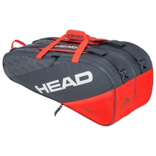 Head Racketbag Elite 9R Supercombi 2020 grau/orange