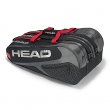 Head Racketbag Elite 12R Monstercombi 2019 schwarz/rot