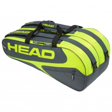 Head Racketbag Elite 9R Supercombi 2019 grau/lime