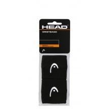 Head Schweissband Handgelenk Logo schwarz - 2 Stück