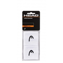 Head Schweissband Handgelenk Logo weiss - 2 Stück