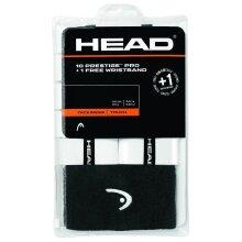 Head Prestige Pro Overgrip 10er weiss + Schweissband Logo