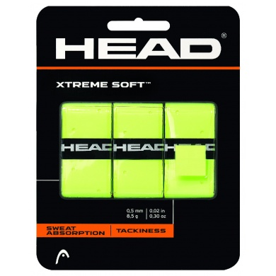 Head Overgrip Xtreme Soft 0.5mm gelb 3er