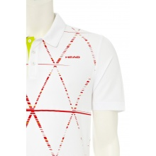 Head Polo Quick 2014 weiss/flame Herren