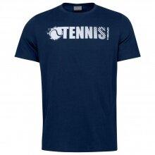 Head Tennis-Tshirt Font dunkelblau Herren