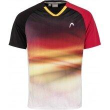 Head Tennis Tshirt DTB Striker 2021 schwarz/rot Herren