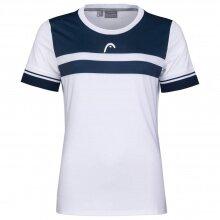 Head Tennis-Shirt Performance weiss/dunkelblau Damen