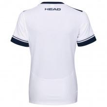 Head Tennis-Shirt Performance weiss/dunkelblau/türkis Damen