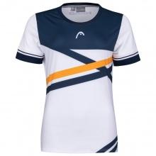 Head Tennis-Shirt Performance weiss/dunkelblau/orange Damen