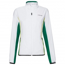 Head Tennisjacke Club 2021 weiss/grün Mädchen