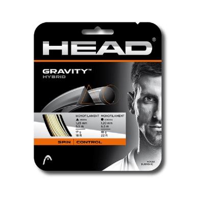 Head Gravity hybrid weiss/silber Tennissaite