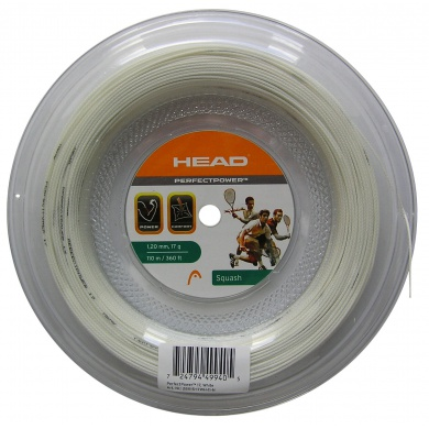 Head Perfect Power Squash weiss 110 Meter Rolle