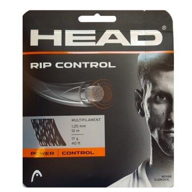 Head Tennissaite Rip Control (Kontrolle+Armschonung) schwarz/weiss 12m Set