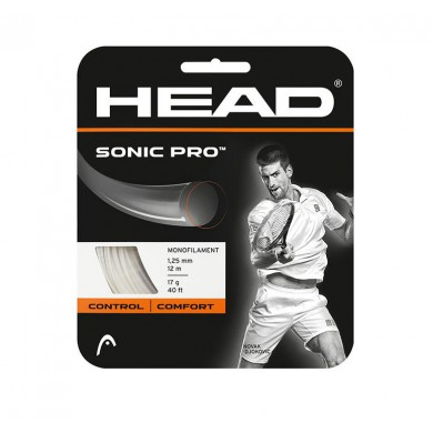 Head Sonic Pro weiss Tennissaite 1.30 (im Polybeutel)