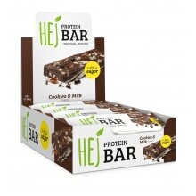 HEJ Protein Bar Cookies & Milk 12x60g Box