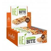 HEJ Natural Bite Roasted Nuts 12x40g Box