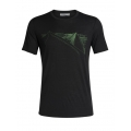 Icebreaker Tshirt Tech Lite Short Sleeve Crewe Peak in Reach 2019 schwarz Herren