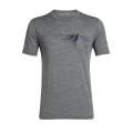 Icebreaker Tshirt Tech Lite Short Sleeve Crewe Peak in Reach 2019 grau Herren