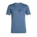 Icebreaker Tshirt Tech Lite Short Sleeve Crewe Peak in Reach 2019 blau Herren