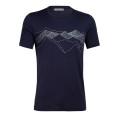 Icebreaker Tshirt Tech Lite SS Crewe Peak Patterns 2020 dunkelblau Herren