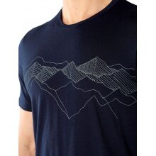 Icebreaker Tshirt Tech Lite SS Crewe Peak Patterns 2020 dunkelblau Herren