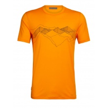 Icebreaker Tshirt Tech Lite SS Crewe Peak Patterns 2020 orange Herren
