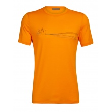 Icebreaker Tshirt Tech Lite SS Crewe Cadence Paths 2020 orange Herren