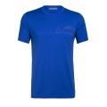 Icebreaker Tshirt Tech Lite SS Crewe Single Line Camp royalblau Herren