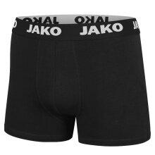 JAKO Boxershort Basic schwarz Herren 2er Pack