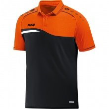 JAKO Polo Competition 2.0 2018 schwarz/neonorange Herren
