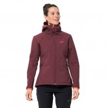 Jack Wolfskin Softshelljacke Rock Valley rot Damen