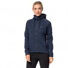 Jack Wolfskin Fleecejacke Sky Thermic Hooded dunkelblau Damen
