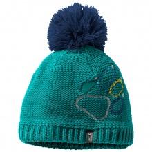 Jack Wolfskin Mütze (Bommel) Paw Knit ozeangrün Kinder
