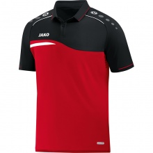 JAKO Polo Competition 2.0 2018 rot/schwarz Herren