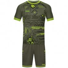 JAKO Sport-Tshirt (Trikot) Tropicana khaki/neongrün Herren