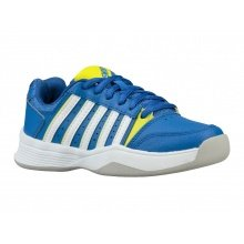 KSwiss Court Smash Carpet 2018 blau/gelb Indoor-Tennisschuhe Kinder